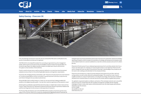 Contract Flooring Journal - January (2019) - Safety Flooring