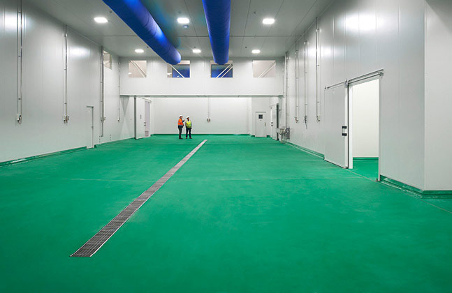 Food factory flooring needs to be carefully considered in order to minimise contamination risks