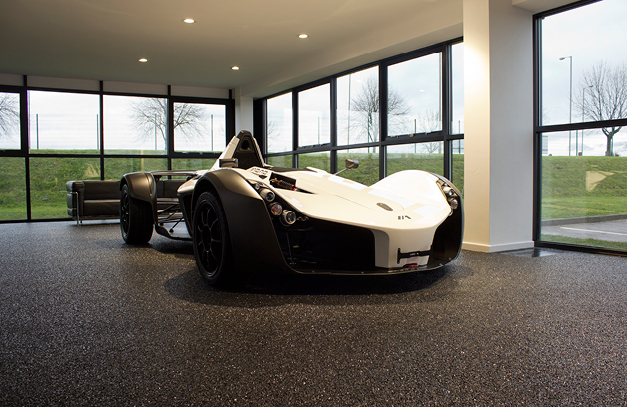 Mono Supercar On Pole Position With Flowcrete S Showroom Floor