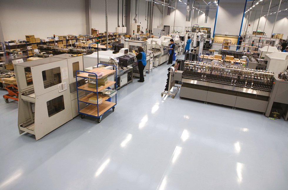 Static Floor Systems : Flowcrete powers anti static floor at tridonic uk