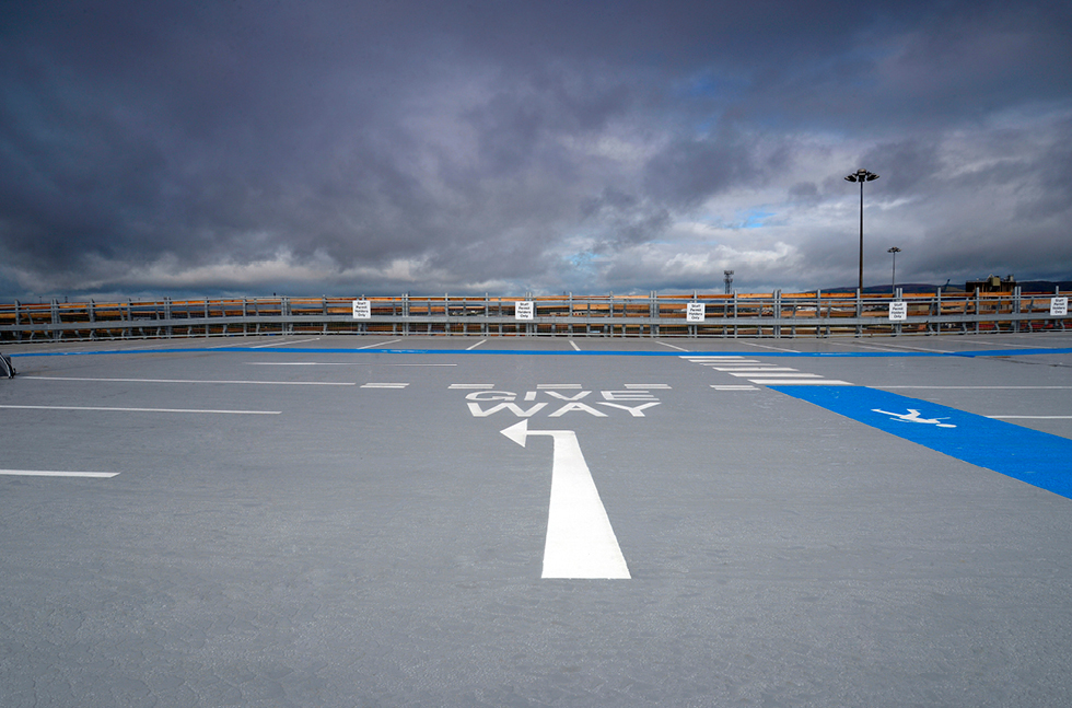 Glasgow's Newest Hospital Installs Fast Curing Car Park Coating