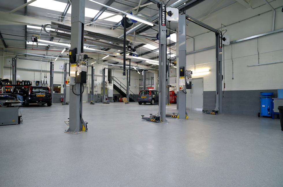 Flowcrete's Full Service at Nissan Macklin Motors