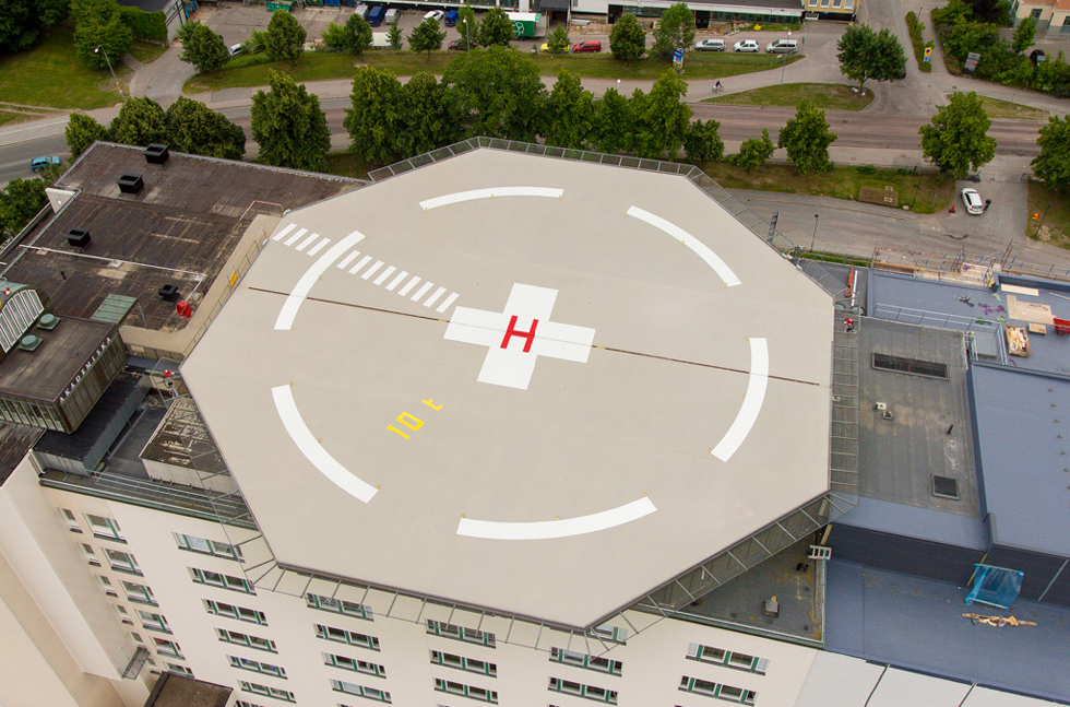 Flowfast Refurbishment Fixes Hospital Helipad