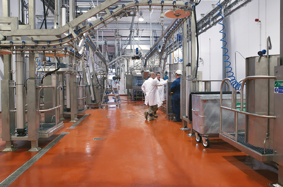 New Eye Catching Flowcrete HF Floors for C&K Meats