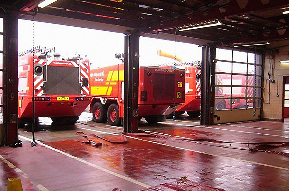 Flowcrete UK Extinguishes Floor Failures at Edinburgh Airport's Fire Station