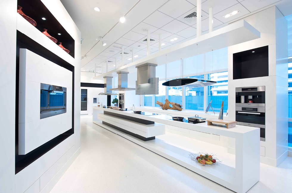 Mondéco Crystal Gives Miele Gallery a Crisp Finish
