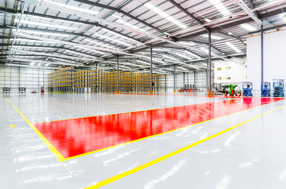 Smooth Landing for Flowcrete Floors at Heathrow Warehouse