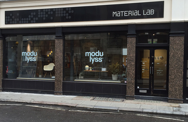 A variety of Flowcrete UK's decorative resin solutions can now be found at London design studio Material Lab.