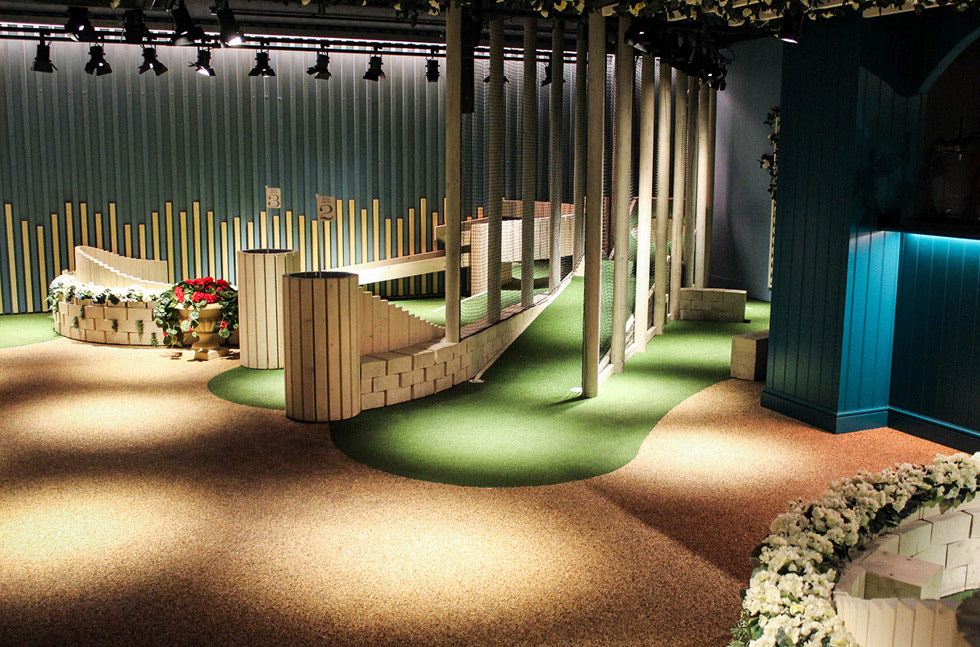 Above Par Flooring at Boutique Crazy Golf Course